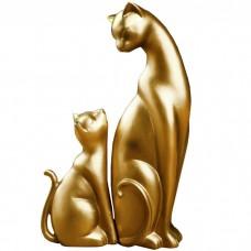 Сувенир Кошка с котенком, 21 см