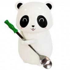 Кружка Панда с крышкой и ложкой