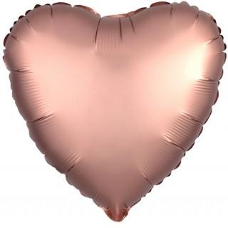 Шар фольгированный Сердце цвета пыльной розы