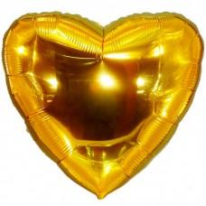 Шар фольгированный Сердце золотое