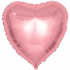 Шар фольгированный Сердце розовое