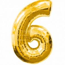 Шар фольгированный цифра 6 (шесть) ...