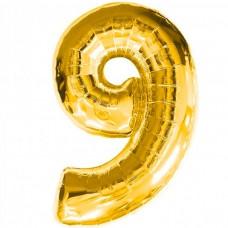 Шар фольгированный цифра 9 (девять)...