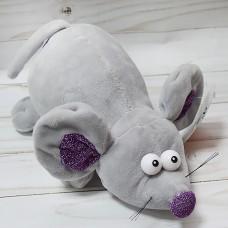 Мягкая игрушка Мышка фиолетовый нос...
