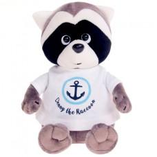 Мягкая игрушка Енотик Дэнни в футболке с якорем