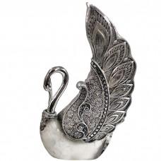 Сувенир Лебедь серебристый 21,5 см