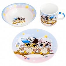 Набор детской посуды Совушки
