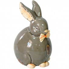 Сувенир керамика Зайка-шарик с бант...