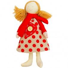 Кукла Люся в шарфике мягкая игрушка...