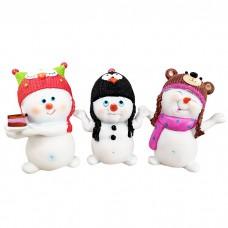 Сувенир Снеговик в шапке Микс