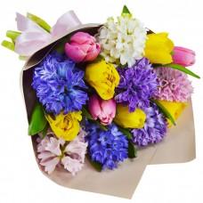 Букет Гиацинты и тюльпаны