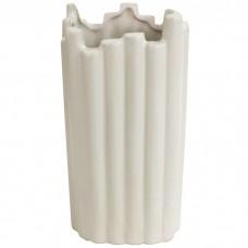Декоративная ваза Сканди 21 см, бел...