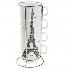 Набор кружек Париж на подставке