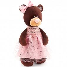 Мягкая игрушка Мишка в платье с бле...
