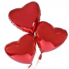 Шар фольгированный  Сердце красное